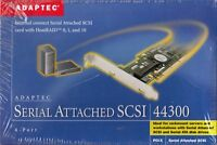 ADAPTEC ASC-44300 2220300-R PCI-X SAS RAID CONTROLLER CARD - NEW!