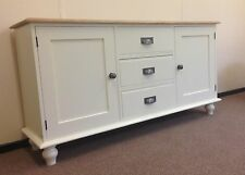 Painted Sideboard unit - single cupboards either side of 3 drawers