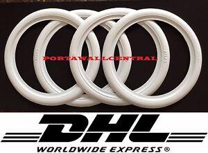"4X10""WHITE WALL TYRE INSERT TRIM SET FIAT 500,600 AUSTIN MINI COOPER BMW isetta."