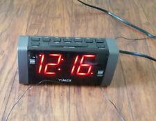 Timex Alarm Clock Radio Black Used