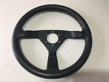 Vintage 1980/90s MOMO 360mm Steering Wheel BLACK LEATHER Ferrari Italy Typ V36