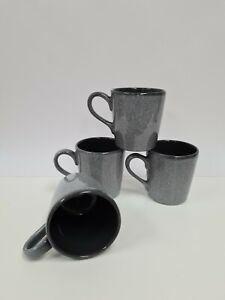 Morrisons Stonewear Grey Spotty Mugs Set Of 4 Artisan Style