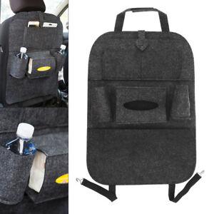 Felt Car Storage Hanging Box Back Seat Bag with Stick Up Style Fixed Belt