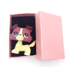 LPS#1262 Littlest Pet Shop Fuchsia Hair Cream Chien Dog Blue Brown Eyes Puppy