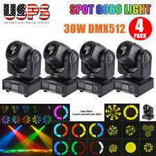 4Pcs Led Mini Beam Stage Lighting Moving Head Lights Dmx512 Party Dj Light Usa