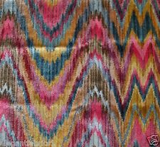 CLARENCE HOUSE EXCLUSIVE TALCY FLAME STITCH VELVET FABRIC 3 YARDS JEWEL