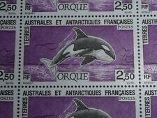 25 TIMBRES TAAF FEULLE COMPLETE ORQUE 1993 FACIALE : 9.52 €