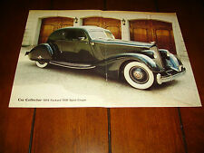 1934 PACKARD 1106 SPORT COUPE  ***ORIGINAL 1986 ARTICLE***