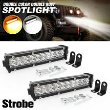 2Pcs LED Work Light Bar 50W Fog Spot Lamp 10000LM Car Truck Strobe Warning Lamp