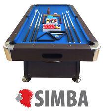 Simba 220x110cm Table de Billard Professionnelle - Vintage Blue (8058340720081)