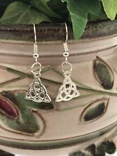 Celtic Triquetra Trinity Knot Drop Dangle Earrings Charmed
