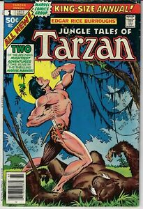 TARZAN LORD OF THE JUNGLE KING SIZE ANNUAL # 1 MARVEL 1977