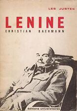 CHRISTIAN BACHMANN - LENINE - EDITIONS UNIVERSITAIRES