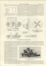 1915 Papermaking Woodpulp And Wood Chopping Machine