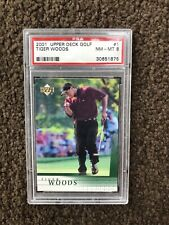 2001 Upper Deck Golf Tiger Woods Rookie PSA 8 GOAT Invest