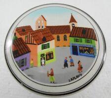 "Villeroy & Boch Naif Village Square Porcelain Trinket Box 4"" Round x 2"" High"