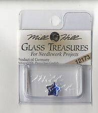 Mill Hill Glass Treasures - Small Flat Star Royal Blue #12173