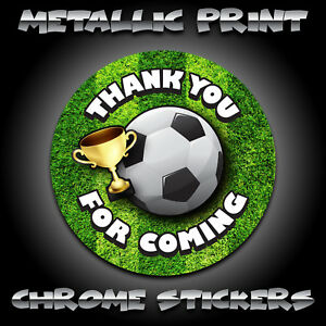 Thank You Party Stickers FOOTBALL 10 25 50 100 Sweet Cone Sticker Seals