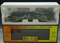 RAIL KING CHESAPEAKE & OHIO GONDOLA CAR WITH JUNG LOAD O-27 GAUGE 30-7254 NIB