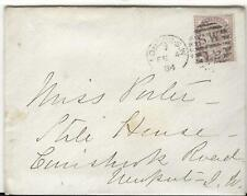 1883 Letter, 1884 Cover London to Newport