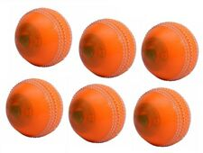 Spin Poly Soft Orange Cricket Ball Pack Of 6 Pvc General Training Match Practice