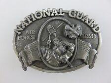 National Guard Air Force Army Belt Buckle Vintage 1982 Bergamot Brass Works USA