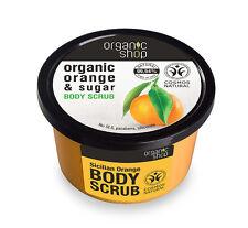 Organic Shop Organic Orange & Sugar Body Polish Scrub 250ml No SLS parabens