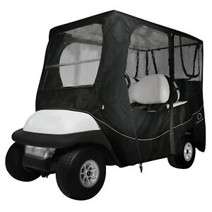 "Classic Accessories Deluxe 4 Passenger Golf Cart Enclosure 80"" Top Universal Fit"
