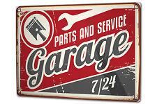 Plaque émaillée XXL Vintage Car Garage d?entretien