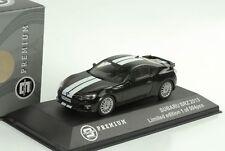 Subaru BRZ 2013 negro con blancos rayas Diecast 1 43 Triple9 Premium