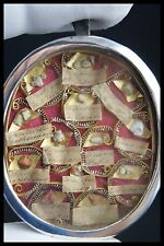 † 18TH BVM + HOLY HOUSES MULTI RELIQUARY 13 RELICS FRENCH STERLING WAX SEALED †