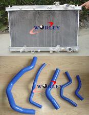 Aluminum Radiator &Blue Hose FOR Honda Integra Acura DC2 B18 GSR RS LS 1994-2001