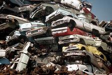 1950s cars piled high junk yard T Birds & Chevy's 8 x 10 Photograph