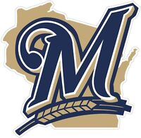 "Milwaukee Brewers State MLB Vinyl Decal Sticker - You Choose Size 2""-28"""