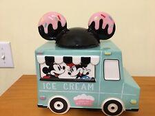 New Disney Store Disney Eats Mickey & Minnie Ice Cream Truck Cookie Jar