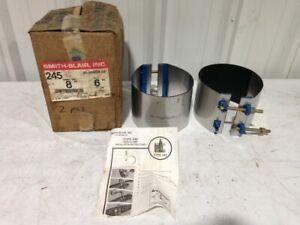 """Smith-Blair 226 8"""" X 6"""" Full Circle Pipe Repair Clamp 8.6"""" OD -NIB of 2"""