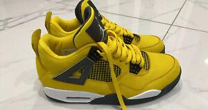 Jordan Retro 4 Custom Dyed Yellow Size 11 US