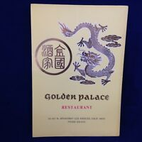 Golden Palace restaurant menu vintage LA CA featuring $1.75 lunch menu wow