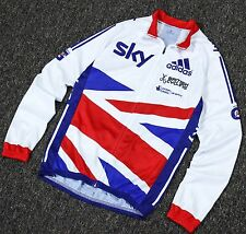 Team GB Sky Adidas Cycling Jersey Long Sleeve Mens Great Britain