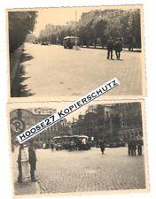 2 Fotos Wehrmacht Paris Straßenszenen 1940 9x6cm 2.WK orig.