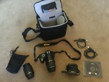 Nikon D3000 10.2MP Digital DSLR Camera With 18-55mm & 55-200mm Lenses