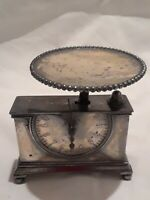 RARE 1893 ANTIQUE WILCOX SILVER PLATE CO SMALL POSTAL SCALE