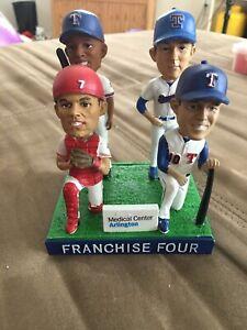 Texas Rangers Franchise Four Bobblehead SGA Beltre Young Nolan Ryan Pudge 7/30