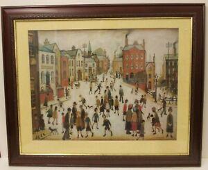 L.S. Lowry Large Canvas Art Print 'A Village Square' 67 cm x 82 cm