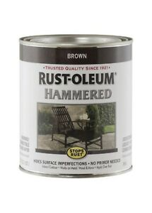 1 Qt BROWN Rust-Oleum Hammered Metal Finish Oil Base Paint 239073
