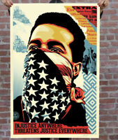 SIGNED! Shepard Fairey American Rage Original Art Print Poster Obey Giant 24x36