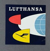 LUFTHANSA ORIGINAL VINTAGE AIRLINE LUGGAGE LABEL BAGGAGE LH