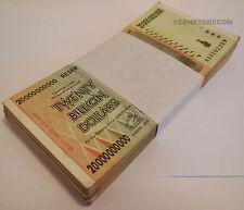 20 Billion Zimbabwe Dollars x 100 Banknotes AA AB 2008 Bundle Lot *Pre Trillion