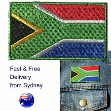 South Africa flag iron on patch Rainbow Nation Suid-Afrika flags iron-on patches