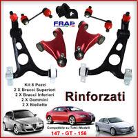 KIT BRACCI OSCILLANTI TRAPEZI INF + SUP RINFORZATI FRAP ALFA ROMEO 147 156 GT